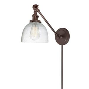 JVI Designs Soho one light double swivel bubble Madison sconce - Bronze