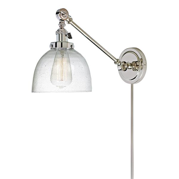 JVI Designs Soho one light double swivel bubble Madison sconce - Chrome