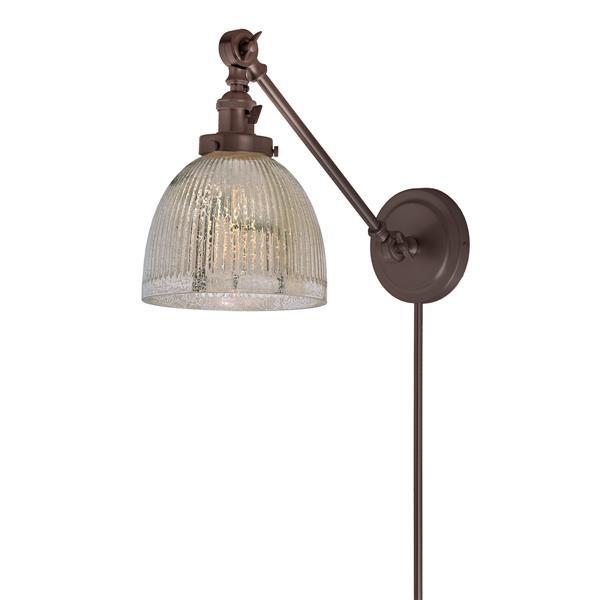 JVI Designs One light double swivel mercury Madison wall sconce - Bronze