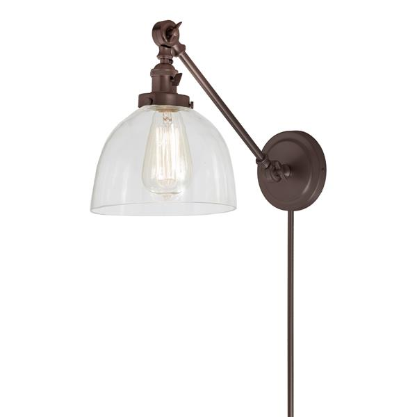 JVI Designs Soho one light  double swivel Madison wall sconce - Bronze