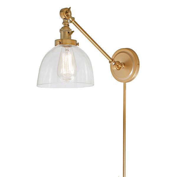 JVI Designs Soho one light  double swivel Madison wall sconce - Brass