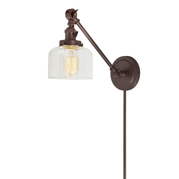 JVI Designs One light  double swivel Shyra wall sconce - Bronze - 21-in x 5-in