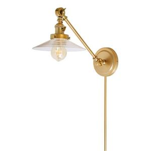 JVI Designs One light double swivel Ashbury wall sconce - Brass- 19-in x 8-in
