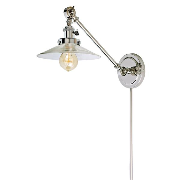 JVI Designs One light double swivel Ashbury wall sconce - Chrome- 19-in x 8-in