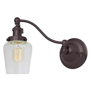 JVI Designs One light half swing Liberty wall sconce - Bronze - 8.75-in