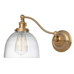 JVI Designs One light half swing clear bubble Madison wall sconce Brass