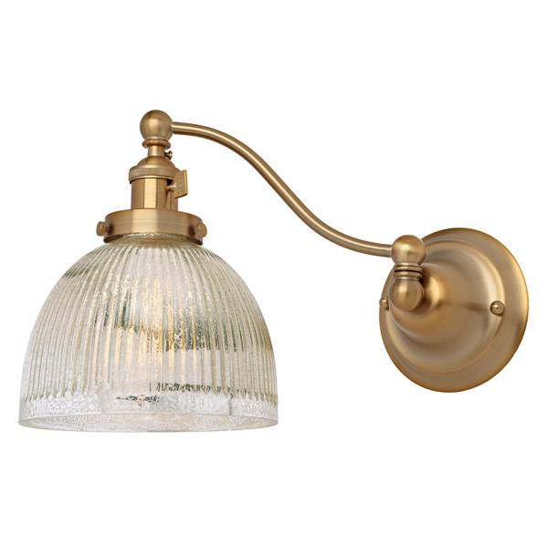 JVI Designs One light half swing mercury Madison  wall sconce - Brass