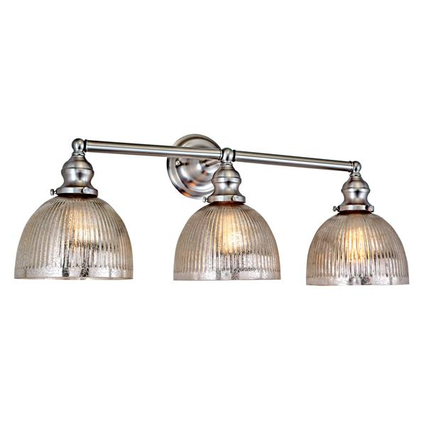 JVI Designs Union Square 3-light mercury bathroom Brushed Nickel 27-in