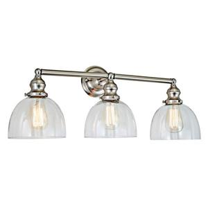 JVI Designs Union Square 3-light bathroom wall sconce - Nickel - 27-in