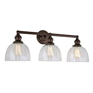 JVI Designs Union Square 3-light bathroom wall sconce - Bronze - 27-in