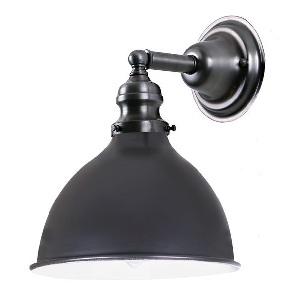 JVI Designs Union Square one light M4 bathroom wall sconce Grey -10.5-in