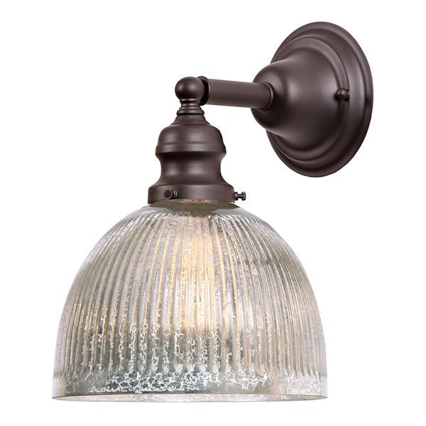 JVI Designs 1-light Mercury Madison bathroom - Bronze - 10.5-in
