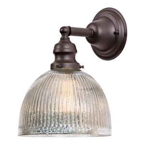 JVI Designs 1-light Mercury Madison bathroom - Bronze - 10.5-in