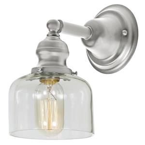 JVI Designs 1-light Shyra bathroom wall sconce - Satin Nickel - 9-in x 5-in