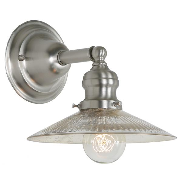 JVI Designs 1-light Mercury Ashbury bathroom - Satin Nickel - 7.5-in x 8-in