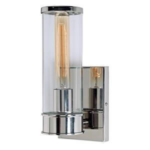 JVI Designs Gramercy one light wall sconce - Polished Nickel - 10.5-in