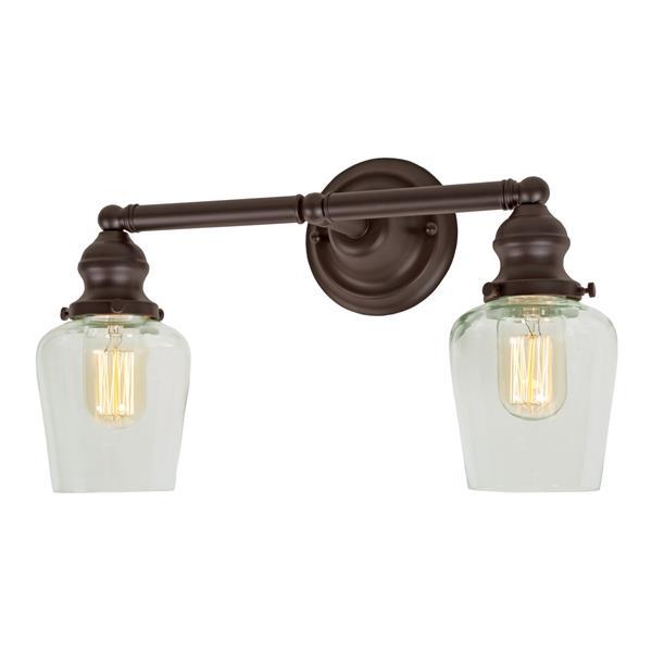 JVI Designs 2-light mercury Liberty bathroom - Bronze - 15-in