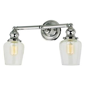 JVI Designs 2-light mercury Liberty bathroom - Nickel - 15-in