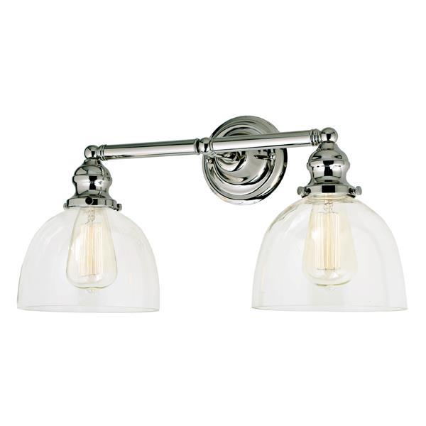 JVI Designs 2-light Madison bathroom wall sconce - Nickel - 18.5-in