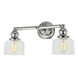 JVI Designs 2-light Shyra bathroom wall sconce - Nickel - 16.5-in x 9-in