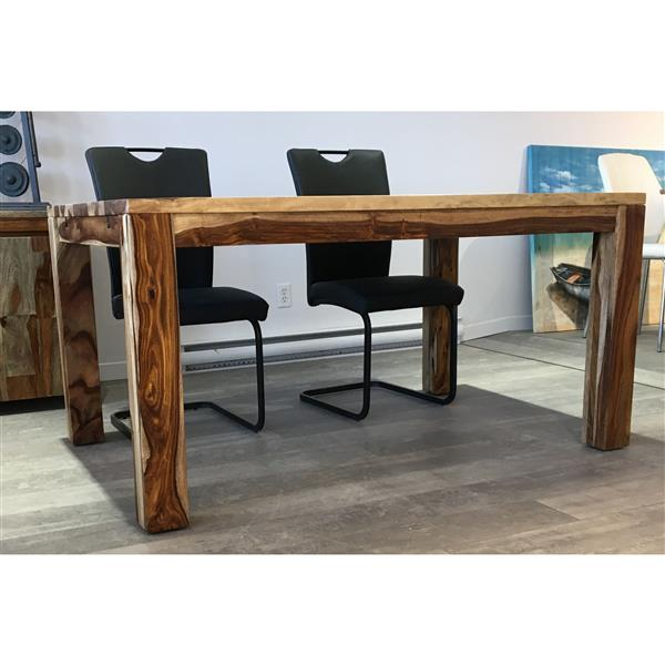 Table extensible en bois de Sheesham, 60''(92'')