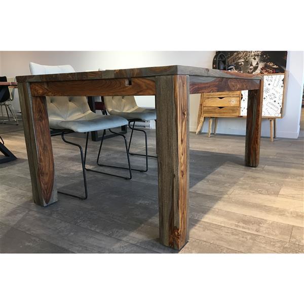 """Table extensible en bois de Sheesham gris, 60""""(92"""")"""