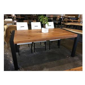 Corcoran Acacia Dining Table with Black-legs - 70""