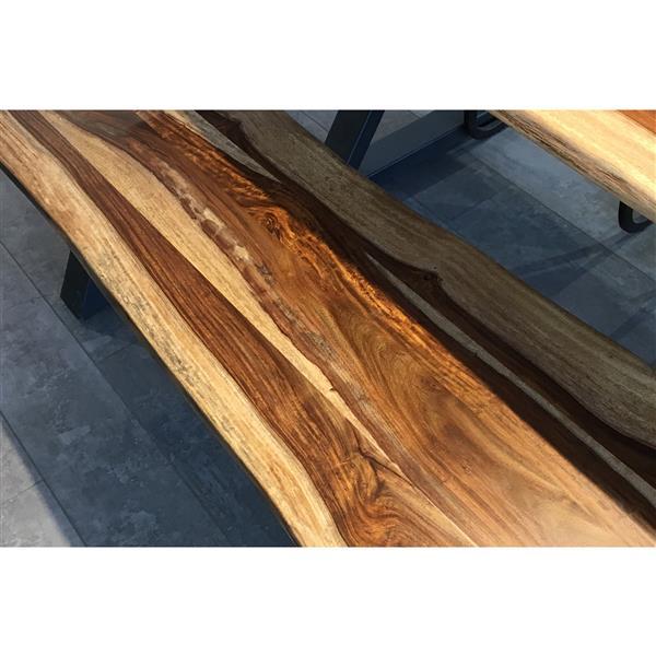 """Banc en bois de Sheesham avec piètement en X, 67"""""""