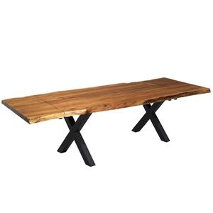 "Table extensible en bois d'Acacia avec base en X, 64""(96"")"