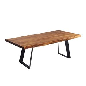 Acacia Live Edge Dining Table with Black Rocket-legs - 72