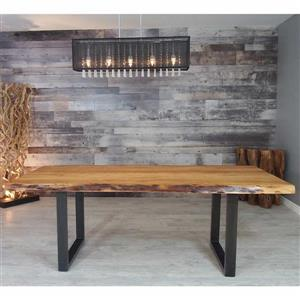 Corcoran Acacia Live Edge Dining Table with Black U-legs - 84""