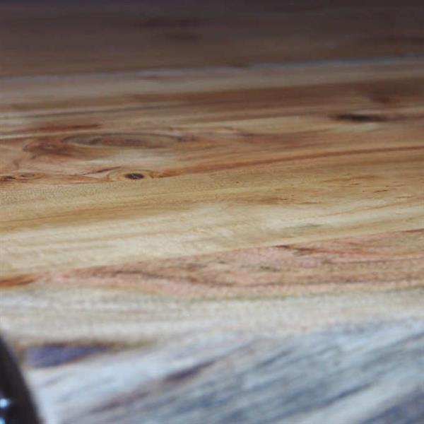 """Table en bois d'Acacia avec piètement en X chrome, 72"""""""