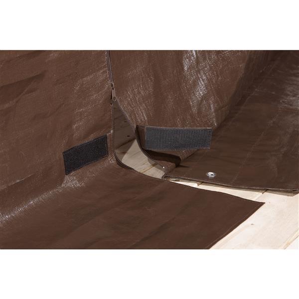 Housse d'hiver pour abri-soleil Sojag(MD), 10' x 10', brun