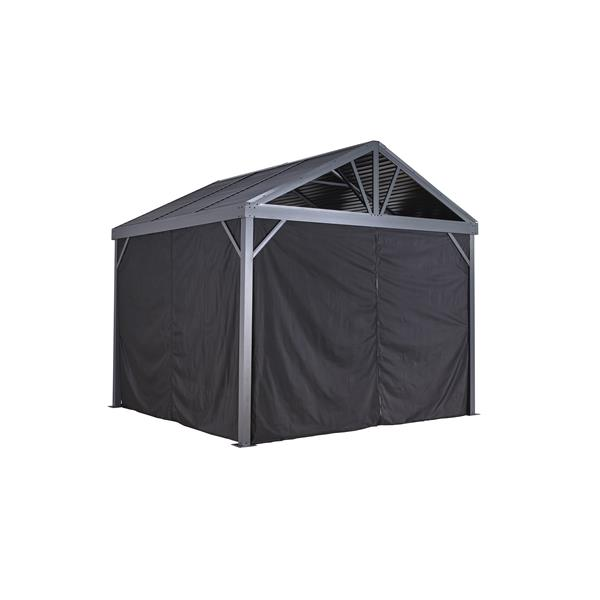 Sojag Privacy Curtains for Sanibel® 10-ft x 10-ft Sun Shelter - Black