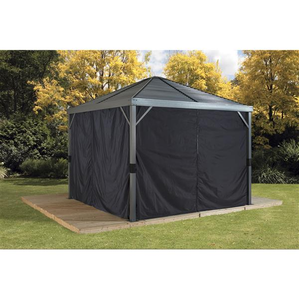 Sojag Privacy Curtains for Sanibel® 8-ft x 8-ft Sun Shelter - Black