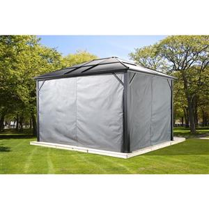 Sojag Privacy Curtains for Meridien® 10-ft x 10-ft Sun Shelter - Grey