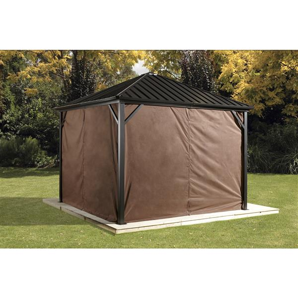 Sojag Privacy Curtains for Dakota® 10-ft x 12-ft Sun Shelter - Brown