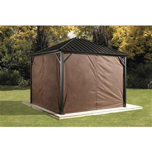 Privacy Curtains for Dakota® 10' x 12' Sun Shelter - Brown