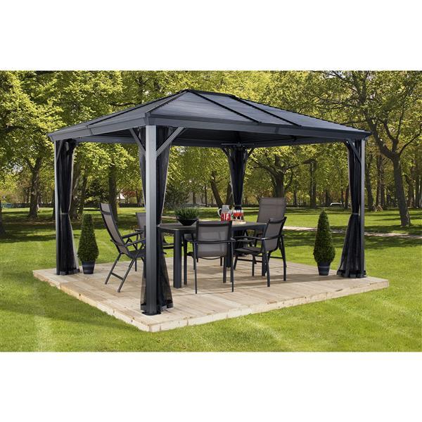 Sojag Ventura Aluminum Sun Shelter - 10-ft x 10-ft - Dark Grey