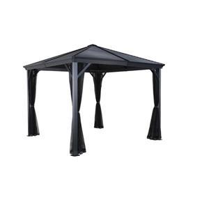 Sojag Ventura Aluminum Sun Shelter - 8-ft x 8-ft - Dark Grey