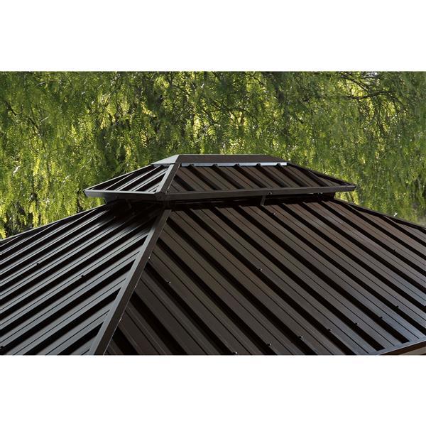 Sojag Genova II Aluminum Sun Shelter - 12-ft x 14-ft - Dark Brown