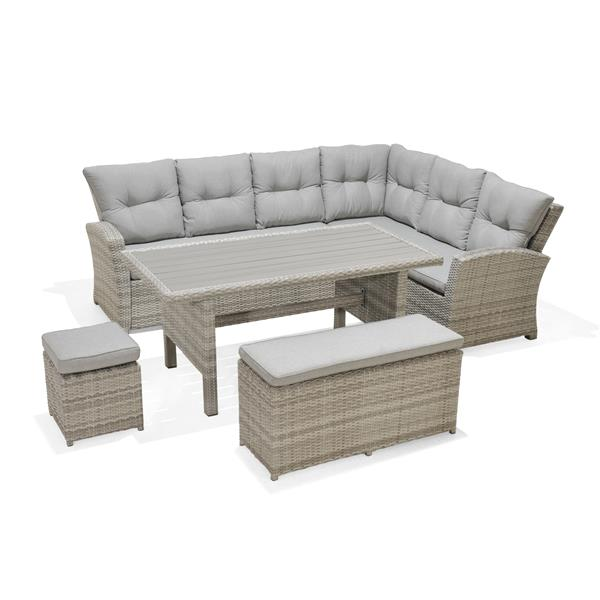 Ensemble de patio Aruba, osier, gris, 5 mcx