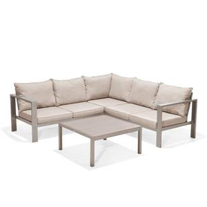 Morella Patio Set - Polyester - Beige - 4 pcs