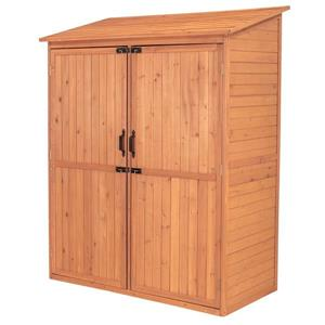Leisure Season Storage Shed - 59'' x 72'' - Cedar - Brown