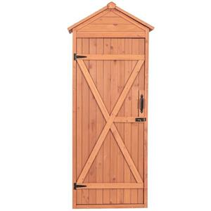 Leisure Season Shed with Drop Table - 32'' x 76'' - Cedar - Brown