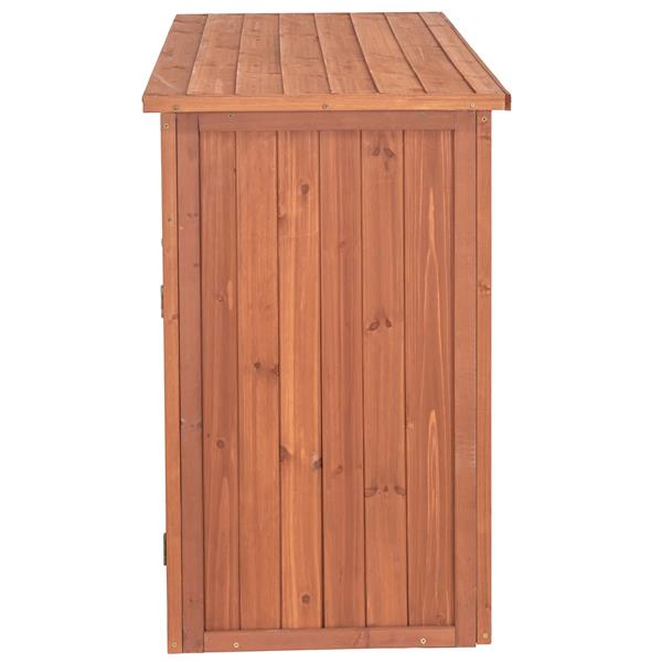 Leisure Season Storage Cabinet - 50'' x 36'' - Cedar - Brown
