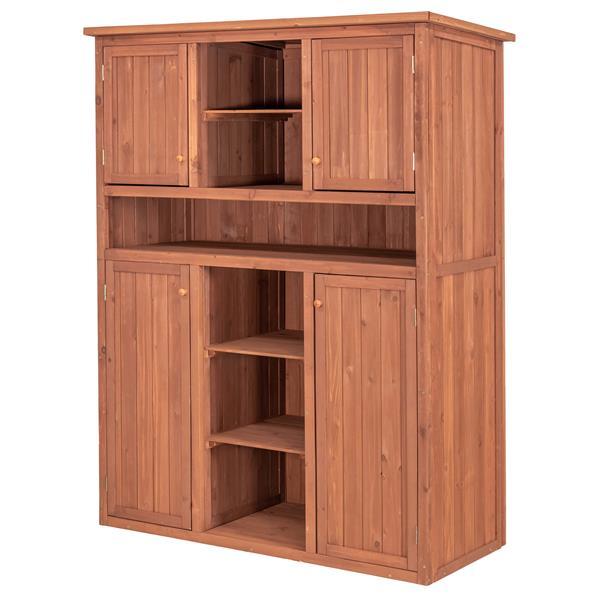 Leisure Season Storage Cabinet - 50'' x 65'' - Cedar - Brown