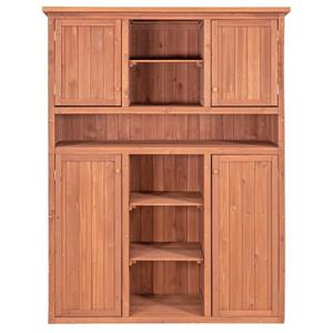 Leisure Season Storage Cabinet - 50'' x 65'' - Cedar - Brown