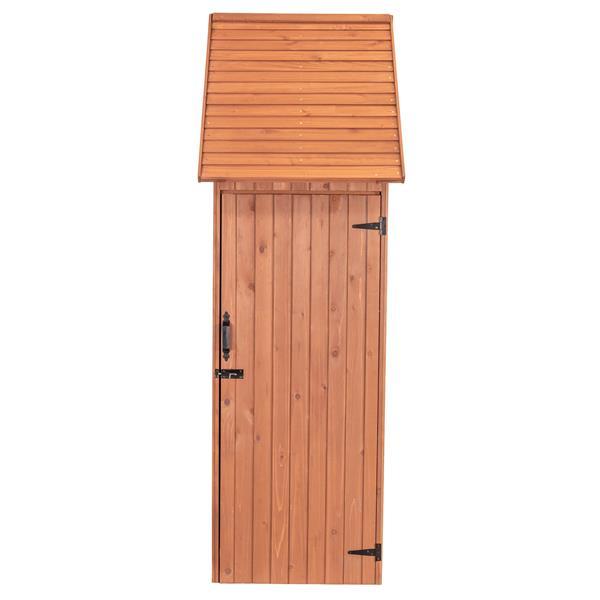 Leisure Season Compartments Shed - 45'' x 83'' - Cedar - Brown
