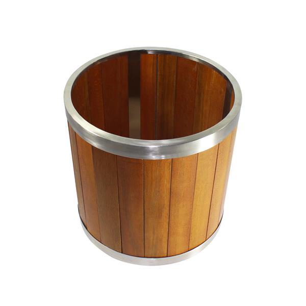 Leisure Season Round Planter - 16-in x 16-in - Wood - Brown